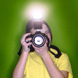 Girl Photographer Portrait Royalty Free Stock Photography