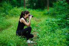 Girl photographer Royalty Free Stock Photo
