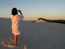 Girl photographing Stock Photos