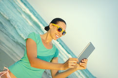 Girl photographs selfie Stock Image