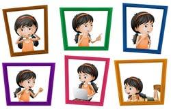 Girl photos Stock Images