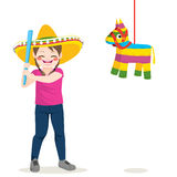 Girl Piñata Royalty Free Stock Photo