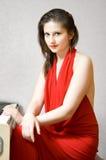 The girl at the piano Royalty Free Stock Photos