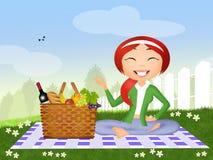 Girl on picnic Stock Photo