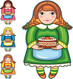 Girl Pie Birthday Set Stock Images