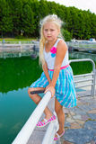 Girl on the pier Stock Photos