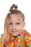 A girl with a pigtail Stock Photo
