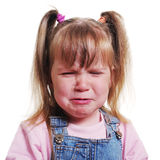 Girl with pigtail. Girl with pigtail is crying Stock Photos