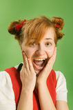 Girl with pigtails Stock Photo