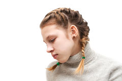 A girl with pigtails Stock Image