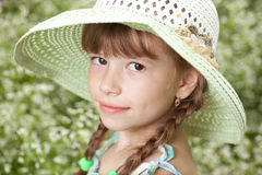 Girl with pigtails Stock Photos