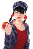 Girl Eating Apple Royalty Free Stock Images