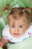 Girl with pigtails portrait Royalty Free Stock Images