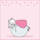 Girl on pilates ball. Vector illustration of girl on pilates ball Royalty Free Stock Image