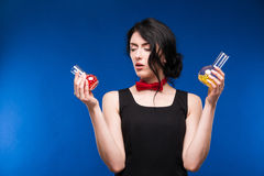 Girl with pills Stock Photography