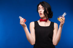 Girl with pills Royalty Free Stock Images