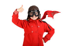 Girl pilot Royalty Free Stock Photo