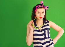 Girl pin-up Stock Images