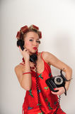 Girl in Pin up pose Royalty Free Stock Images