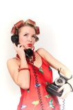 Girl in Pin up pose Stock Images
