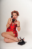 Girl in Pin up pose Royalty Free Stock Photos