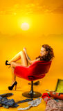 Girl in pin-up style Stock Image