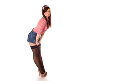 Girl pin-up styling Stock Photo
