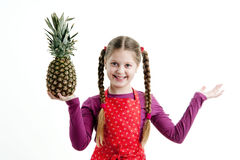 Girl with pineapple. An image of Girl with pineapple royalty free stock image