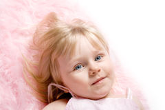 Girl on Pink Royalty Free Stock Image