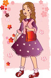 Girl in the pink. Vector file for illustration and desogn vector illustration