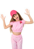 The girl in pink Royalty Free Stock Photos