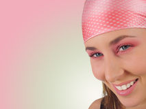 Girl in Pink. Portrait of a beauty in pink stock image