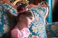 Girl in pink Royalty Free Stock Photo