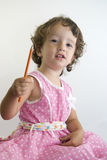 Girl in pink Stock Photography