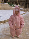 little girl in winter clothes Royalty Free Stock Photography