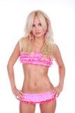 Girl in pink bikini Royalty Free Stock Images