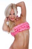 Girl in pink bikini Stock Photo