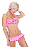 Girl in pink bikini Royalty Free Stock Image