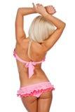 Girl in pink bikini Stock Images