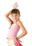 The girl in a pink blouse Stock Images