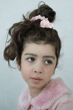 The girl in pink blouse Stock Images