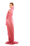 Girl in pink clothes Royalty Free Stock Photography