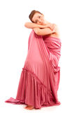 Girl in pink clothes Stock Image