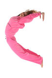 Girl in pink clothes represents  letter c Royalty Free Stock Photo