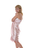 Girl in a pink dress Royalty Free Stock Photos