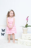 Girl in a pink dress Royalty Free Stock Images
