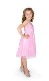 The girl in a pink dress Stock Photography