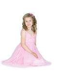 The girl in a pink dress Stock Photo