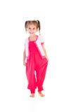 Girl in pink dress Stock Photos
