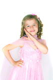 The girl in a pink dress Stock Image